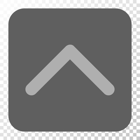 penetrating: Direction Up toolbar button. Vector pictogram style is a flat symbol on a rounded square button, light gray and gray colors, chess transparent background.