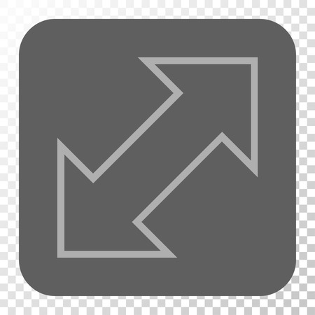 diagonal  square: Exchange Diagonal interface icon. Vector pictograph style is a flat symbol in a rounded square button, light gray and gray colors, chess transparent background.