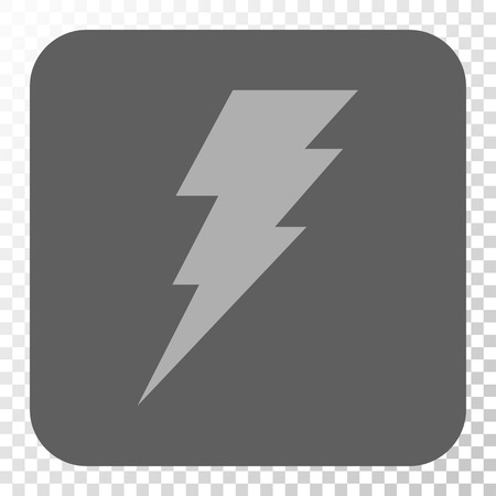 execute: Execute interface icon. Vector pictogram style is a flat symbol on a rounded square button, light gray and gray colors, chess transparent background.