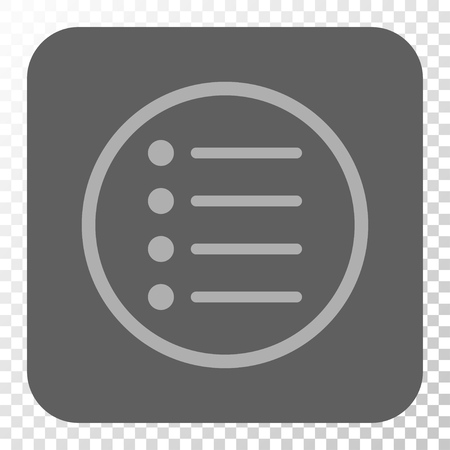 numerate: Items square button. Vector pictogram style is a flat symbol on a rounded square button, light gray and gray colors, chess transparent background. Illustration