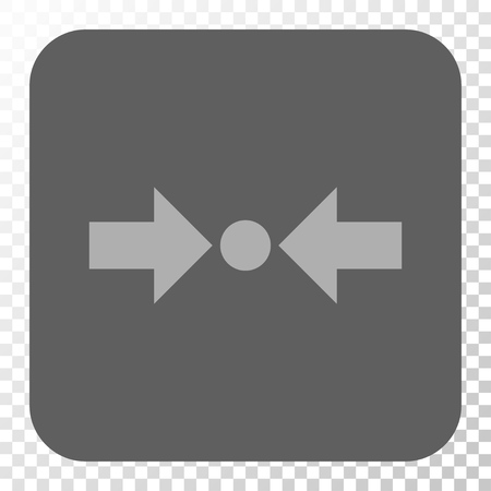 shrink: Pressure Horizontal interface icon. Vector pictograph style is a flat symbol in a rounded square button, light gray and gray colors, chess transparent background.