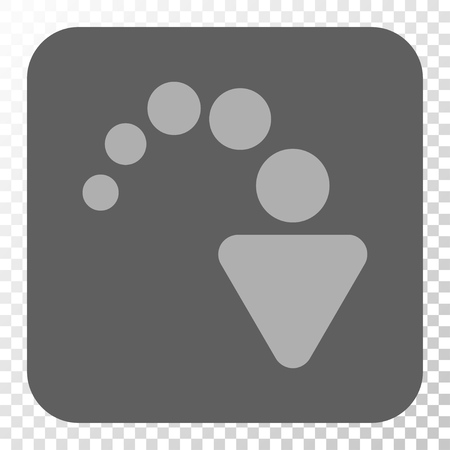 redo: Redo interface button. Vector pictogram style is a flat symbol in a rounded square button, light gray and gray colors, chess transparent background.