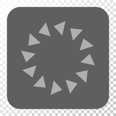 spin: Rotate CCW square icon. Vector pictogram style is a flat symbol in a rounded square button, light gray and gray colors, chess transparent background.