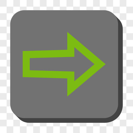propel: Arrow Right interface button. Vector pictogram style is a flat symbol on a rounded square button, light green and gray colors, chess transparent background. Illustration