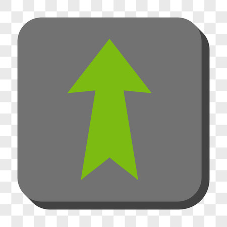 Arrow Up Rounded Button Vector Pictogram Style Is A Flat Symbol