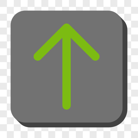 Arrow Up Square Button Vector Pictogram Style Is A Flat Symbol