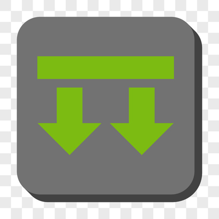 bring: Bring Down square icon. Vector pictogram style is a flat symbol on a rounded square button, light green and gray colors, chess transparent background.