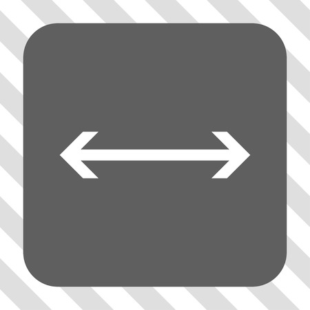 inverse: Horizontal Flip rounded icon. Vector pictogram style is a flat symbol inside a rounded square button, white and gray colors, hatched diagonally transparent background. Illustration