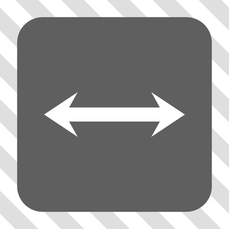 inverse: Horizontal Flip toolbar button. Vector pictogram style is a flat symbol in a rounded square button, white and gray colors, hatched diagonally transparent background.