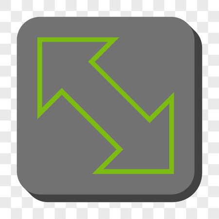 diagonal  square: Exchange Diagonal toolbar icon. Vector pictograph style is a flat symbol inside a rounded square button, light green and gray colors, chess transparent background.
