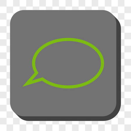 hint: Hint Cloud rounded button. Vector pictograph style is a flat symbol inside a rounded square button, light green and gray colors, chess transparent background. Illustration