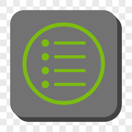 numerate: Items square icon. Vector pictogram style is a flat symbol centered in a rounded square button, light green and gray colors, chess transparent background.