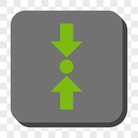 clash: Pressure Vertical interface toolbar icon. Vector pictograph style is a flat symbol in a rounded square button, light green and gray colors, chess transparent background.