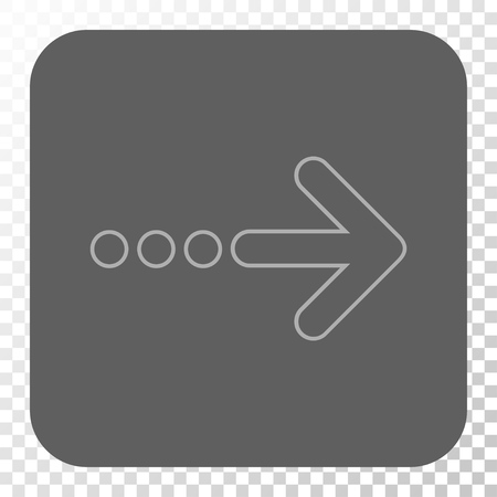 redirect: Send Right rounded button. Vector pictogram style is a flat symbol on a rounded square button, light gray and gray colors, chess transparent background.