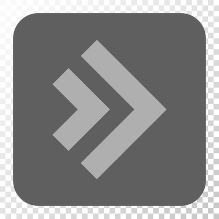 propel: Shift Right toolbar button. Vector pictograph style is a flat symbol on a rounded square button, light gray and gray colors, chess transparent background.