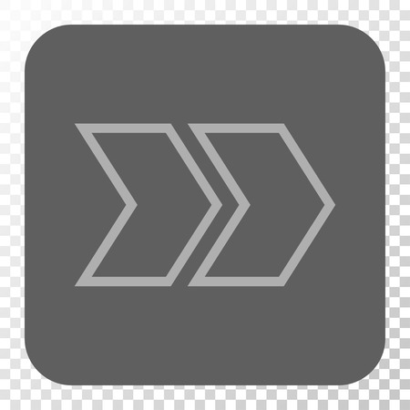redirect: Shift Right square button. Vector pictograph style is a flat symbol inside a rounded square button, light gray and gray colors, chess transparent background.