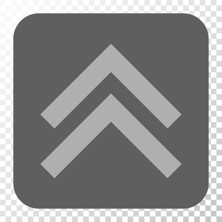 shift: Shift Up toolbar icon. Vector pictograph style is a flat symbol on a rounded square button, light gray and gray colors, chess transparent background.