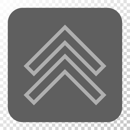 shift: Shift Up interface toolbar button. Vector pictogram style is a flat symbol on a rounded square button, light gray and gray colors, chess transparent background. Illustration
