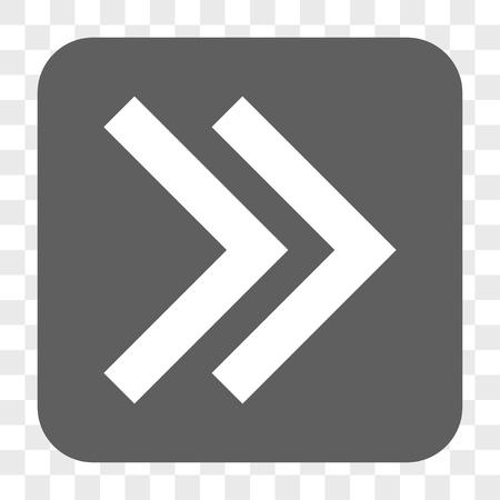 Klicken Sie in der Symbolleiste auf die rechte Maustaste. Vektorikonenart ist ein flaches Symbol innerhalb gerundete quadratische Knopf-, weiße und Grauefarben, Schachtransparenter Hintergrund. Vektorgrafik