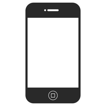 electronic organizer: Smartphone EPS vector pictogram. Illustration style is flat iconic gray symbol on white background. Illustration