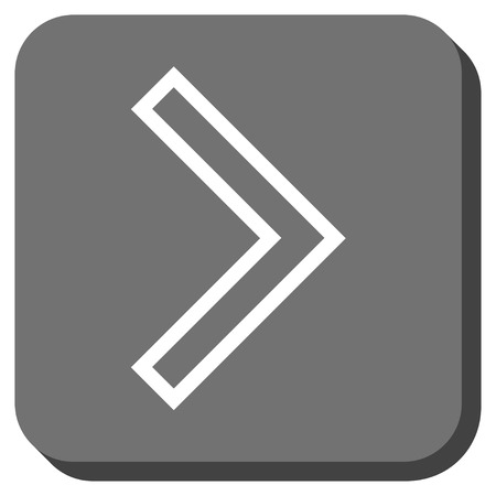 arrowhead: Arrowhead Right glyph icon. Image style is a flat icon symbol on a rounded square button, white and gray colors. Stock Photo