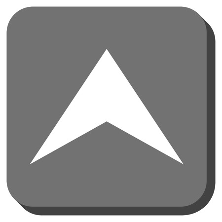 arrowhead: Arrowhead Up glyph icon. Image style is a flat icon symbol inside a rounded square button, white and gray colors.