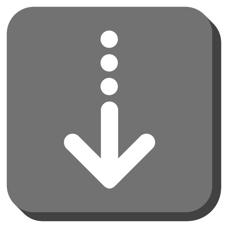 vertical orientation: Send Down glyph icon. Image style is a flat icon symbol inside a rounded square button, white and gray colors.