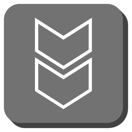 vertical orientation: Shift Down glyph icon. Image style is a flat icon symbol inside a rounded square button, white and gray colors.