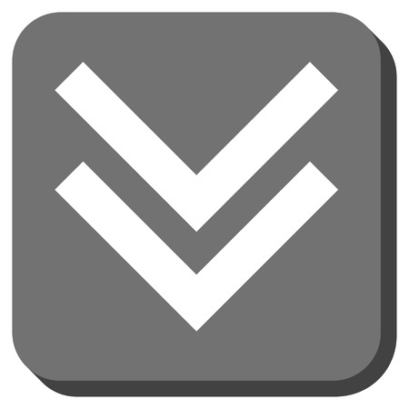 vertical orientation: Shift Down glyph icon. Image style is a flat icon symbol in a rounded square button, white and gray colors.