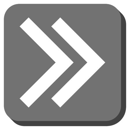 propel: Shift Right glyph icon. Image style is a flat icon symbol inside a rounded square button, white and gray colors.