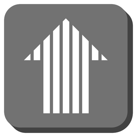 Stripe Arrow Up Glyph Icon Image Style Is A Flat Icon Symbol