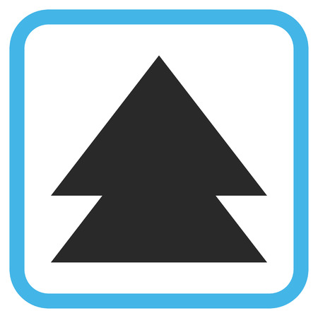 vertical orientation: Move Up blue and gray glyph icon. Image style is a flat iconic symbol in a rounded square frame on a white background. Stock Photo