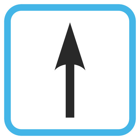 Sharp Arrow Up Blue And Gray Glyph Icon Image Style Is A Flat