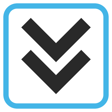 vertical orientation: Shift Down blue and gray glyph icon. Image style is a flat pictograph symbol inside a rounded square frame on a white background.