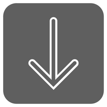 vertical orientation: Arrow Down glyph icon. Image style is a flat icon symbol in a rounded square button, white and silver gray colors.