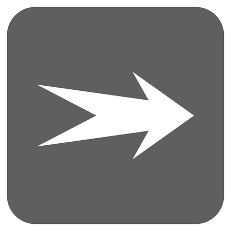 proceed: Arrow Right glyph icon. Image style is a flat icon symbol in a rounded square button, white and silver gray colors.