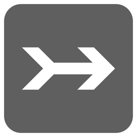 proceed: Arrow Right glyph icon. Image style is a flat icon symbol on a rounded square button, white and silver gray colors.