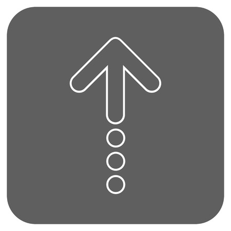 vertical orientation: Send Up glyph icon. Image style is a flat icon symbol on a rounded square button, white and silver gray colors.