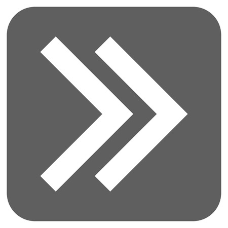 proceed: Shift Right glyph icon. Image style is a flat icon symbol on a rounded square button, white and silver gray colors.