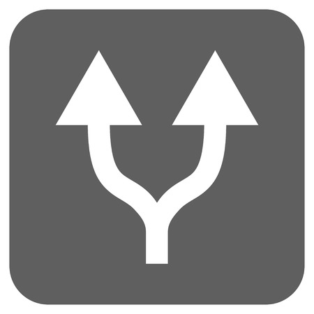 vertical divider: Split Arrows Up glyph icon. Image style is a flat icon symbol in a rounded square button, white and silver gray colors.