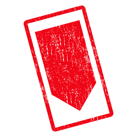 Direction Down rubber seal stamp watermark. Vector icon symbol inside rotated rounded rectangle with grunge design and dust texture. Unclean red ink emblem on a white background.
