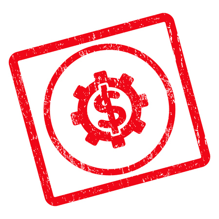 Financial Options rubber seal stamp watermark. Vector icon symbol inside rotated rounded rectangle with grunge design and scratched texture. Unclean red ink sign on a white background.