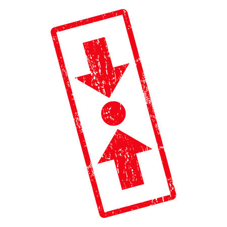 clash: Pressure Vertical rubber seal stamp watermark. Vector icon symbol inside rotated rounded rectangle with grunge design and unclean texture. Unclean red ink sign on a white background.
