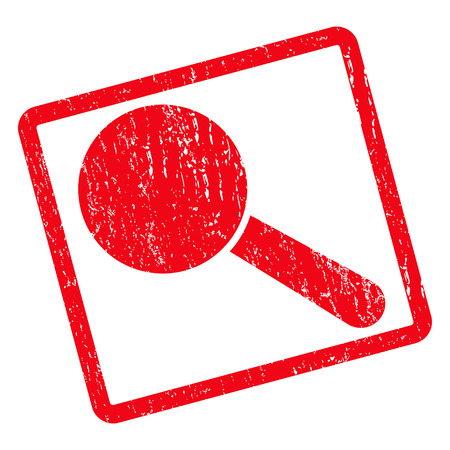 Search Tool rubber seal stamp watermark. Vector icon symbol inside rotated rounded rectangle with grunge design and unclean texture. Unclean red ink emblem on a white background.