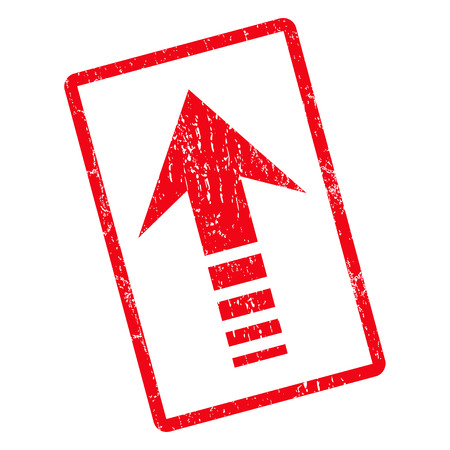 Send Up rubber seal stamp watermark. Vector icon symbol inside rotated rounded rectangle with grunge design and unclean texture. Unclean red ink emblem on a white background.
