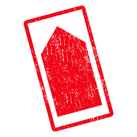 Direction Up rubber seal stamp watermark. Glyph icon symbol inside rotated rounded rectangle with grunge design and dirty texture. Unclean red ink sticker on a white background. Stock Photo