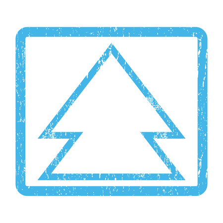 penetrating: Direction Up rubber seal stamp watermark. Vector pictogram symbol inside rounded rectangle with grunge design and scratched texture. Scratched blue ink sticker print on a white background. Illustration