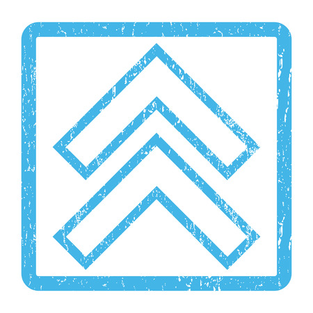 penetrating: Shift Up rubber seal stamp watermark. Vector icon symbol inside rounded rectangle with grunge design and dirty texture. Scratched blue ink emblem print on a white background.