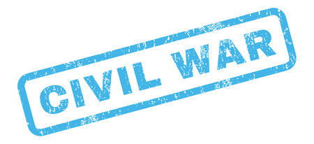 civil war: Civil War text rubber seal stamp watermark. Tag inside rectangular shape with grunge design and unclean texture. Slanted vector blue ink sticker on a white background. Illustration