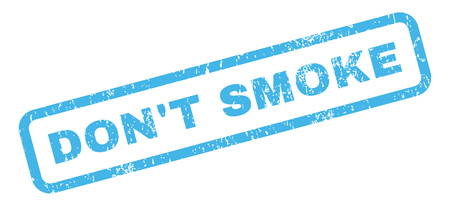 dont sign: DonT Smoke text rubber seal stamp watermark. Caption inside rectangular shape with grunge design and dirty texture. Slanted vector blue ink sign on a white background.